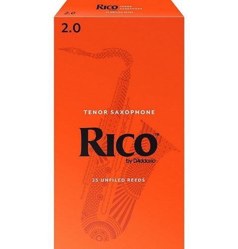 ☆唐尼樂器︵☆美國 RICO Tenor 次中音薩克斯風竹片 2號/2.5號/3號/3.5號 (25片/盒)【橘包裝】