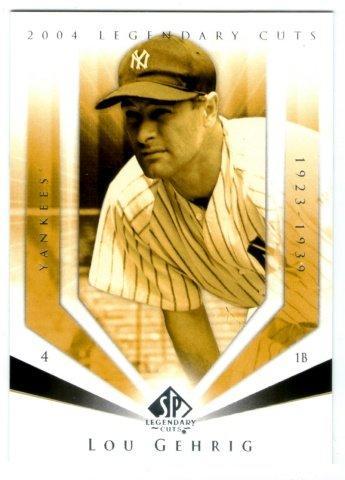 "(L)MLB-2004-SP  Legendary Cuts #73 紐約洋基隊名人堂傳奇""鐵馬"" Lou Gehrig 精美貴卡包球員卡一張-BV2.5"