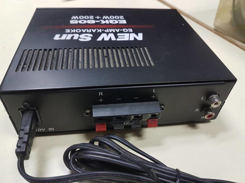 二手 中古 new sun EQK-805 amp 擴大機 有麥克風孔*2 av input*1 second hand