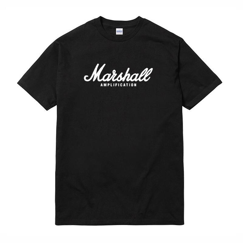 Marshall Amp Logo 短袖T恤 黑色 音響樂器龐克搖滾樂團美國棉