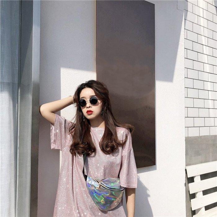港味復古chic風春夏新款個性寬鬆顯瘦百搭學生圓領短袖T恤上衣女