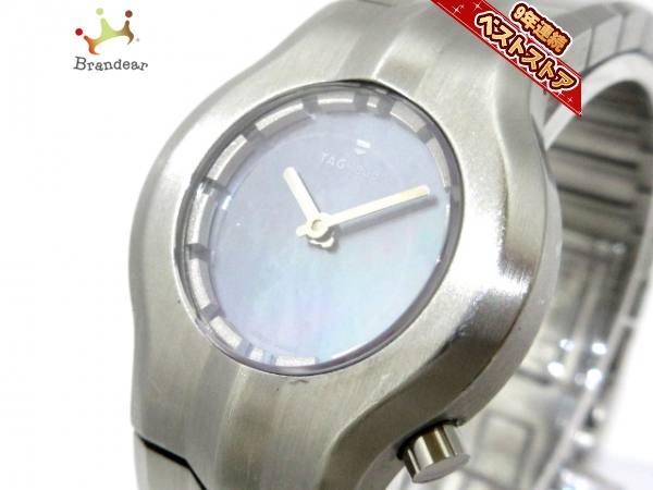 TAG HEUER|豪雅~可使用~不是現貨~代標女用指針藍面盤~100公尺電池動力錶徑33X29mm~白鋼錶帶長18cm