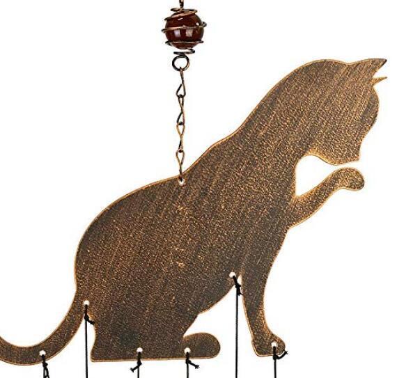 12402c 歐洲製造 好品質 限量品 可愛小貓咪喵喵風鈴吊飾吊墜民宿門鈴掛件擺飾品擺件風鈴掛飾牆壁上門上室內外掛鈴禮2