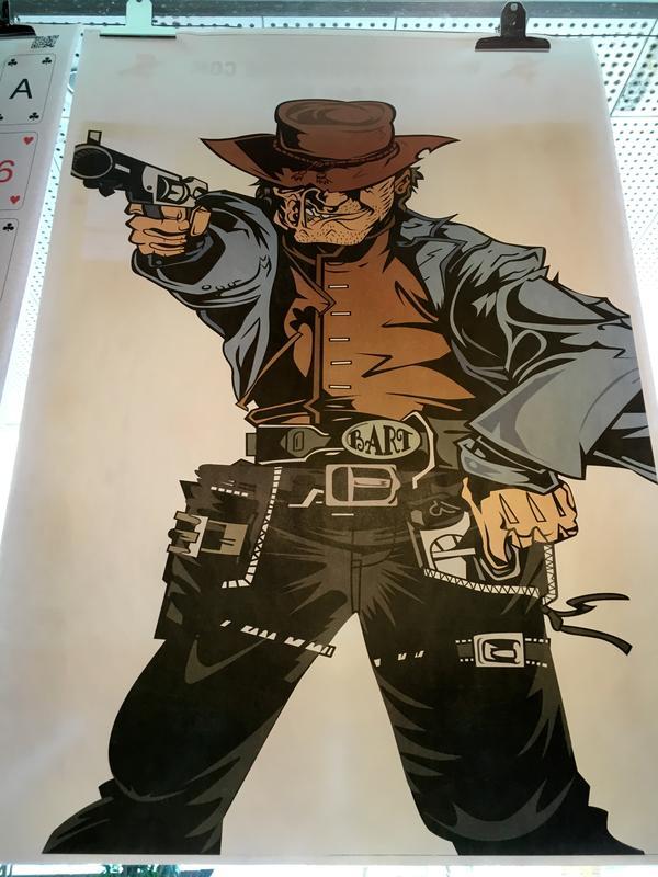 美國特殊圖案射擊靶紙(牛仔大叔)
