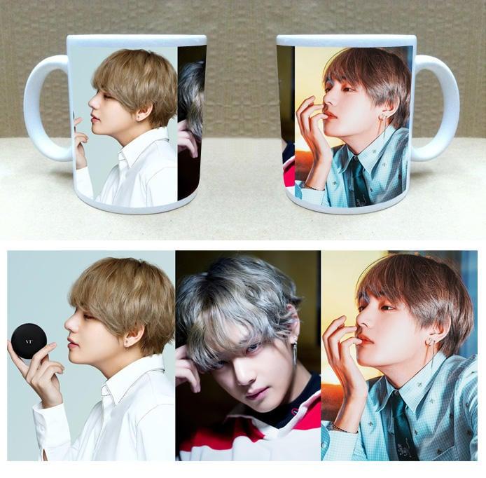 現貨!!金泰亨 V 個人 BTS 防彈少年團 馬克杯 咖啡杯 杯子 水杯,應援 周邊。A款