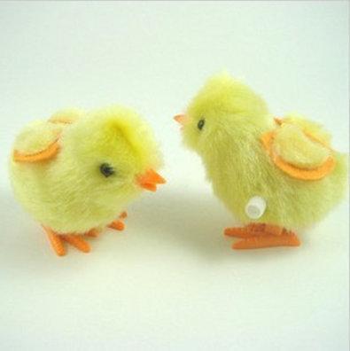【雜貨店】發條小雞 上鏈發條玩具 毛雞 發條小雞 毛絨小雞15元