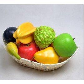 仿真水果套裝道具假水果蔬菜櫥櫃裝飾品超逼真仿真輕款水果套裝1套入