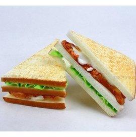 仿真食物麵包蛋糕模型櫥窗擺設裝飾拍攝道具假麵包PU仿真三明治1入