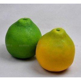 仿真水果假水果蔬菜塑料泡沫模型攝影道具廚櫃裝飾品仿真大柚子1入