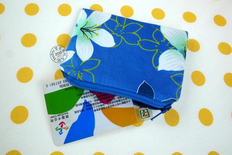 【寶貝童玩天地】【HO085】零錢包 客家花布 台灣製 單色款