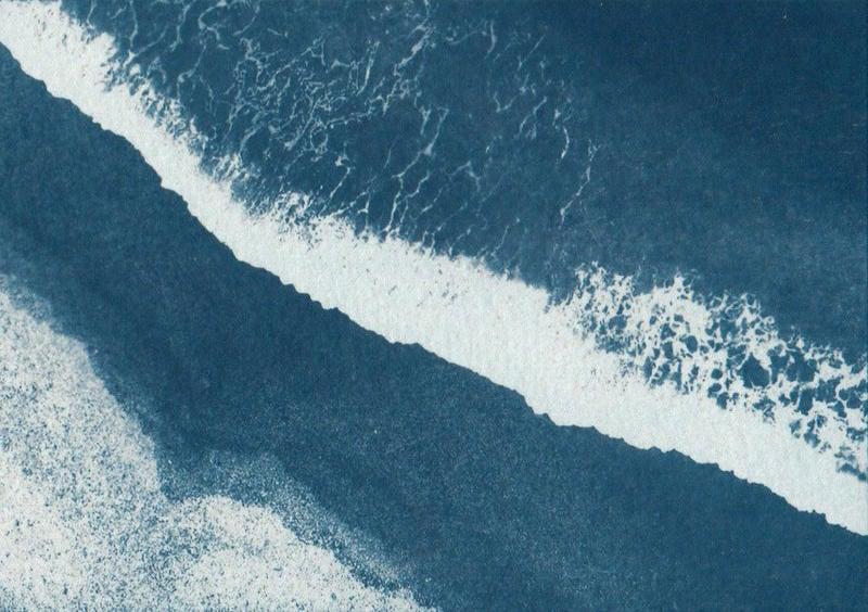 光合放相館《藍曬、氰版顯影、cyanotype》藍曬作品--海岸