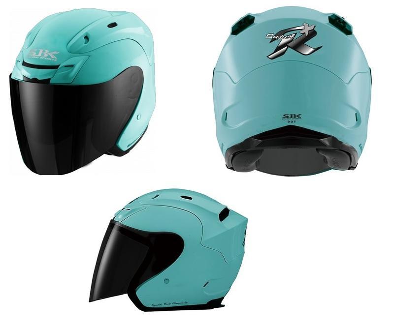 台中皇欣!! SBK 出品復刻改版款半罩3/4安全帽 SUPER R PLUS !!加購墨片或電鍍片可折100!!