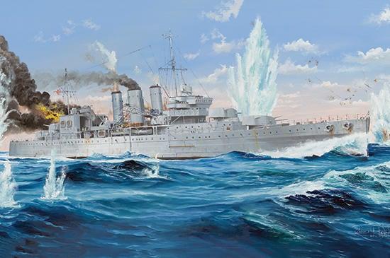 [威逸模型] 小號手 1/350 英國 康威 重巡洋艦 05353