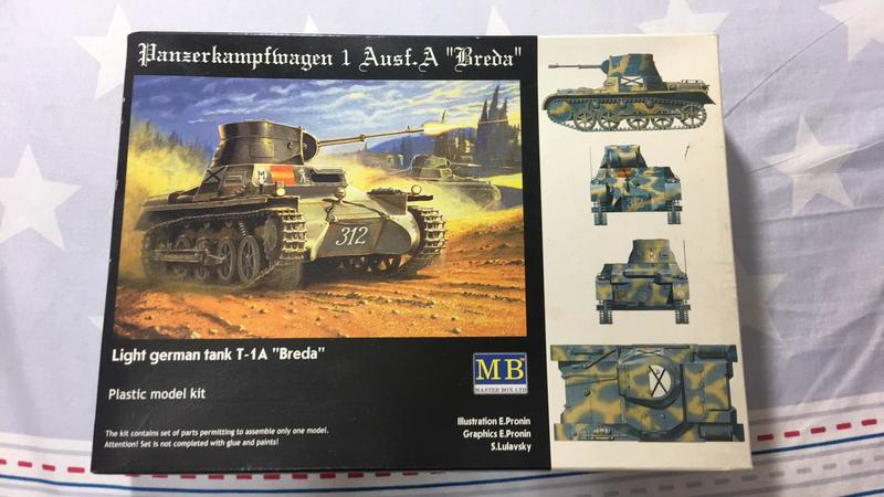MB 1/35 Light German Tank T-1A breda 德國輕坦克