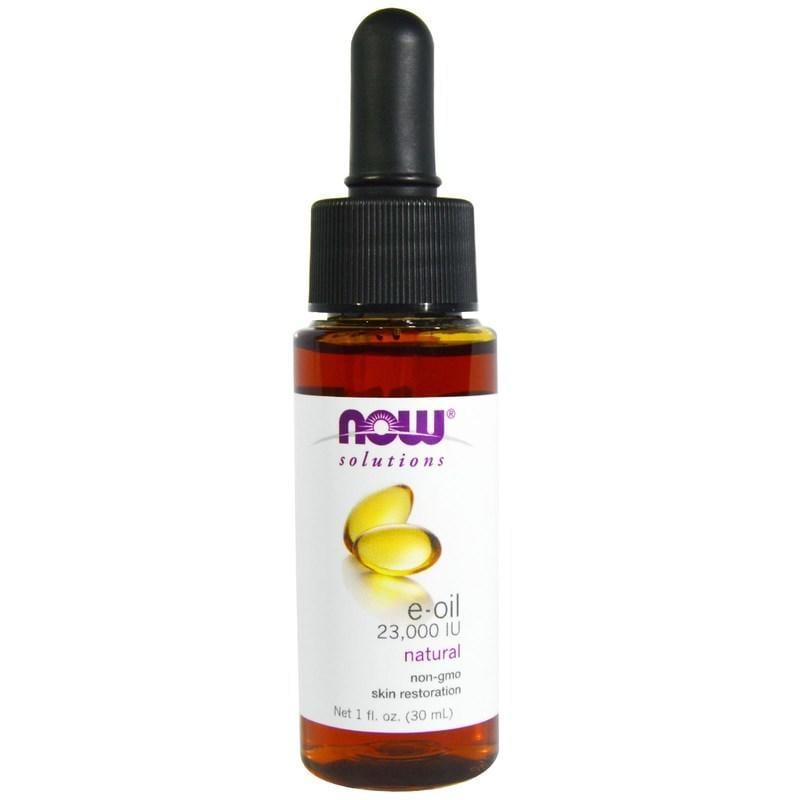 【樂活時尚館】代購Now 100% Natural E-Oil純天然維他命E油/肌膚修復油23000IU/1盎司/瓶
