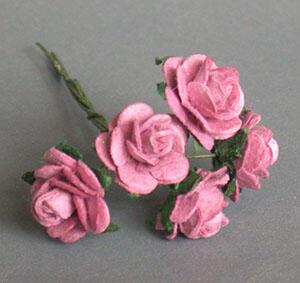 【袖珍屋】紫色玫瑰花(特大)--5朵/束(F2203A0125)
