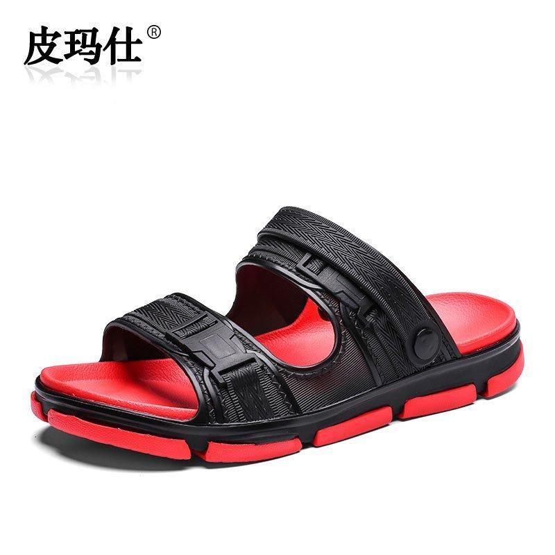 創意 韓版 夏季夏季男士涼鞋潮流防滑室外網紅拖鞋夏天時尚外穿個性休閑沙灘鞋子