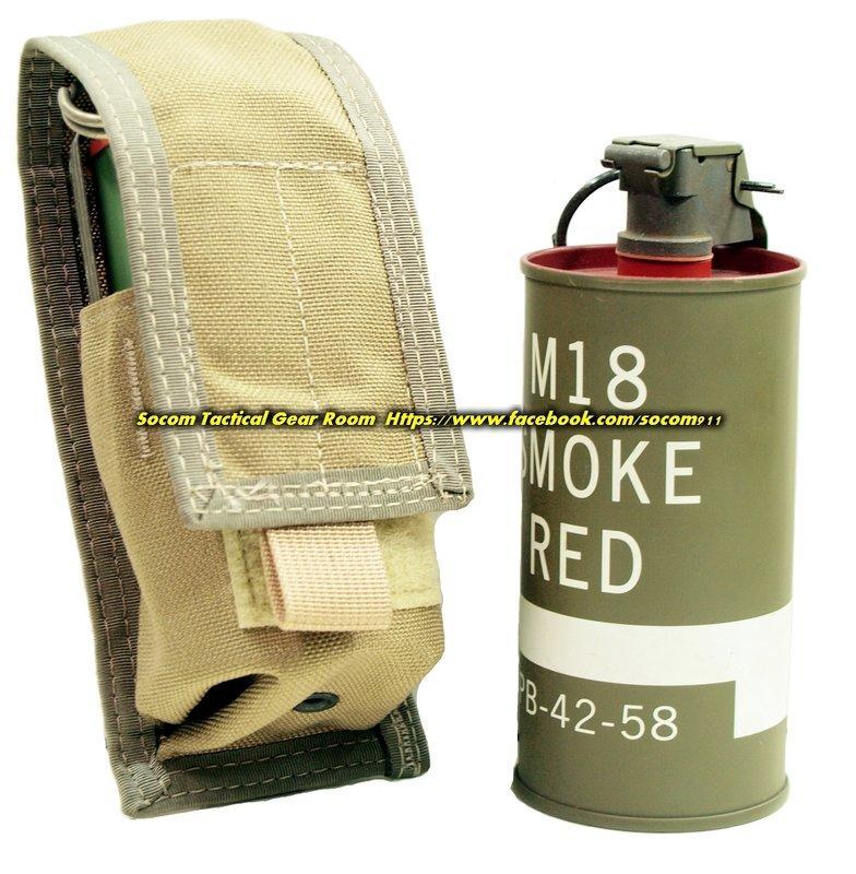 EAGLE 第二代 MLCS CIRAS MBSS MOLLE 單連 M18 煙霧彈 震撼彈 袋 卡其色 SEAL DEVGRU 採用