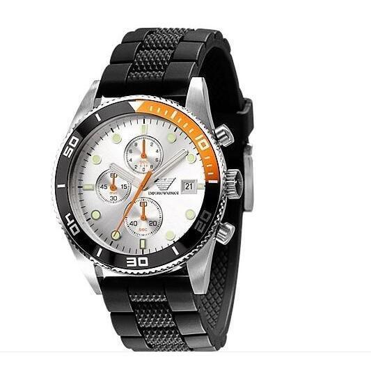 【香港直郵】Armani阿瑪尼AR男士腕錶潮流時尚三眼計時多功能防水日曆石英手錶男AR5856