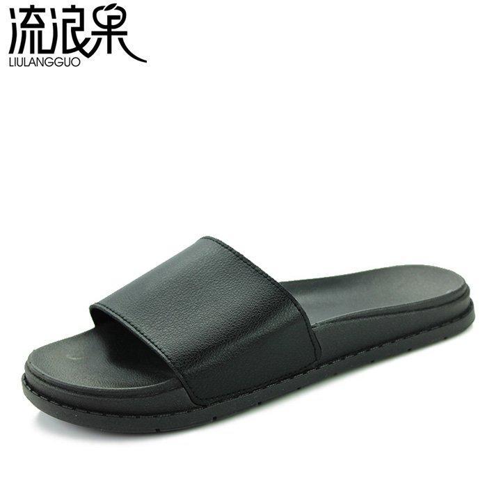 創意 韓版 夏季夏季時尚拖鞋男士一字拖男潮拖情侶鞋沙灘鞋防滑夏天潮涼拖男外穿