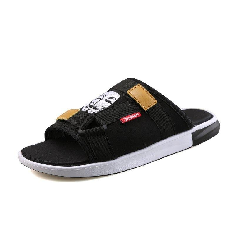 創意 韓版 夏季拖鞋男夏一字拖夏天學生外穿涼鞋男士青春潮流人字沙灘鞋