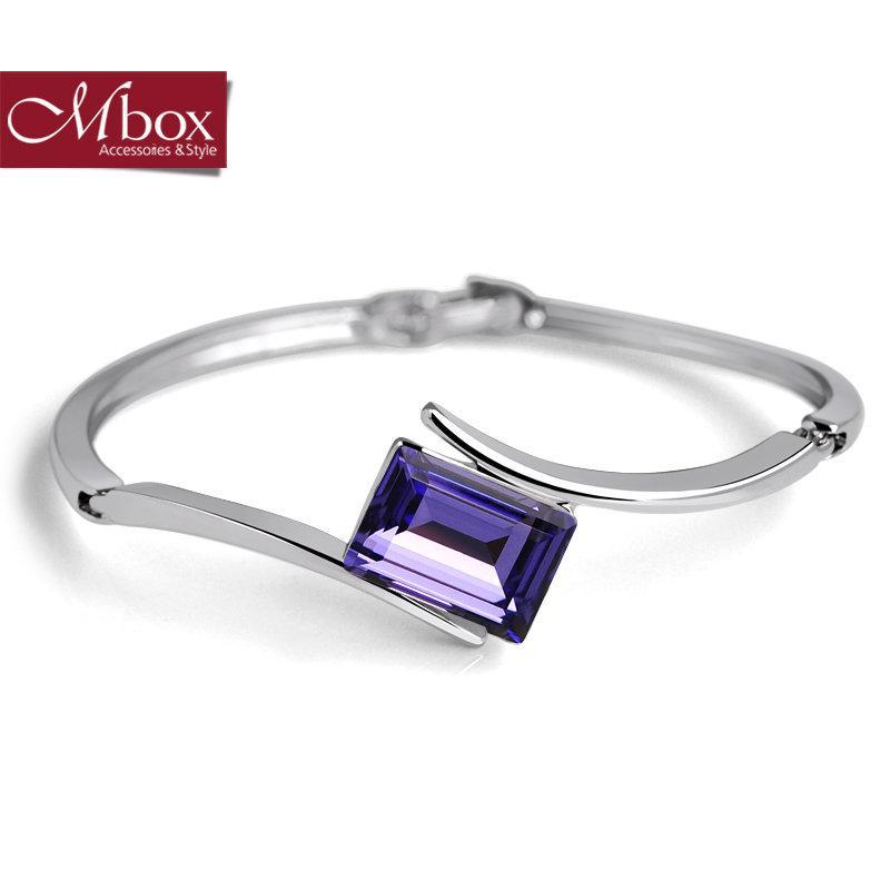 Mbox手鍊 施華洛世奇®元素水晶 簡約典雅 記憶走廊【紫色下標區】
