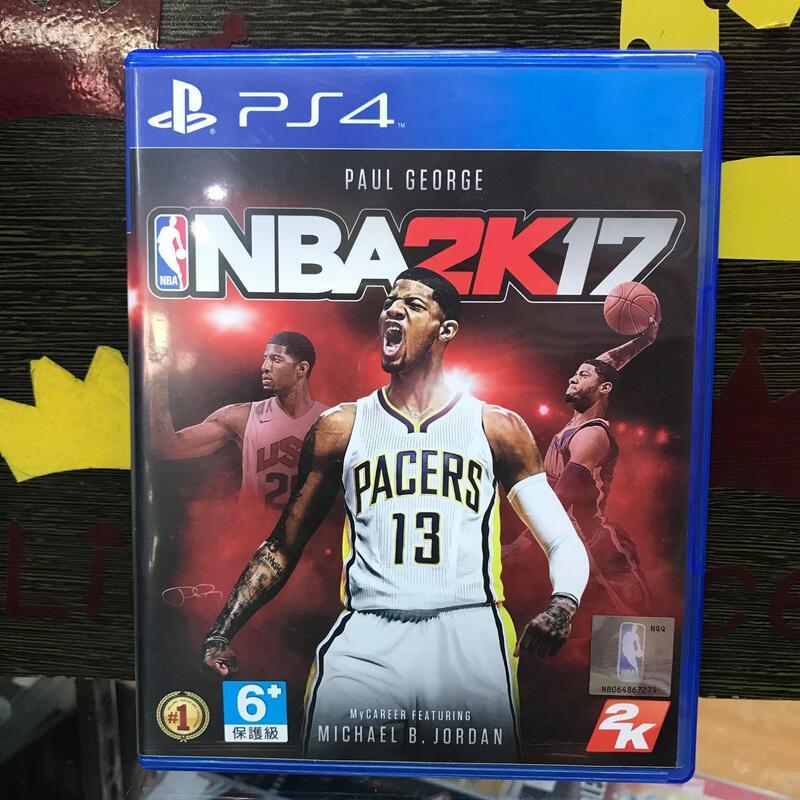 ☆小王子電視遊樂器☆[二手中古]PS4 NBA 2K17 中文版~台南崇學店~保護級