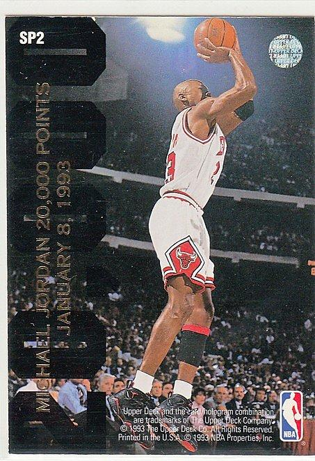 [SAMC] NBA球員卡 Michael Jordan 92-93 UD #SP2 20,000 Points