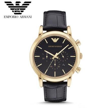 【香港直郵】Armani阿瑪尼AR男士腕錶潮流時尚三眼計時多功能防水石英手錶男AR1917