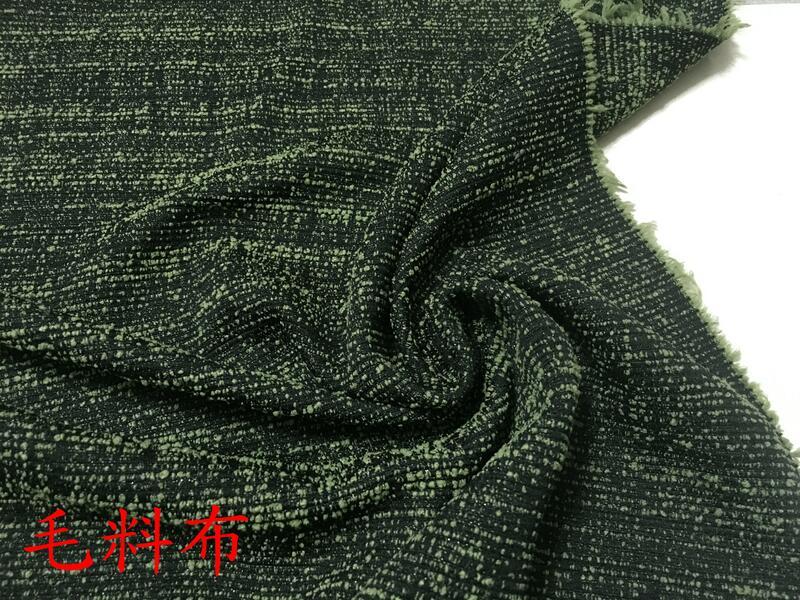 ~便宜地帶~(H1)款綠色系小香風線織毛料布10尺賣200元(144*300公分)適合做褲子.外套.披肩.衣服.料子超好