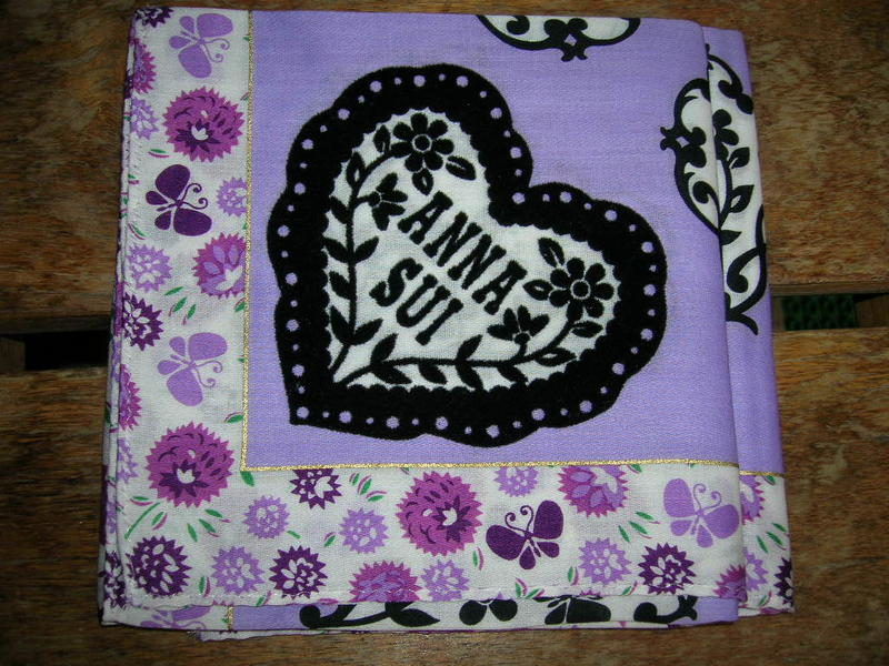 ANNA SUI 方巾 絲巾 手帕 手巾