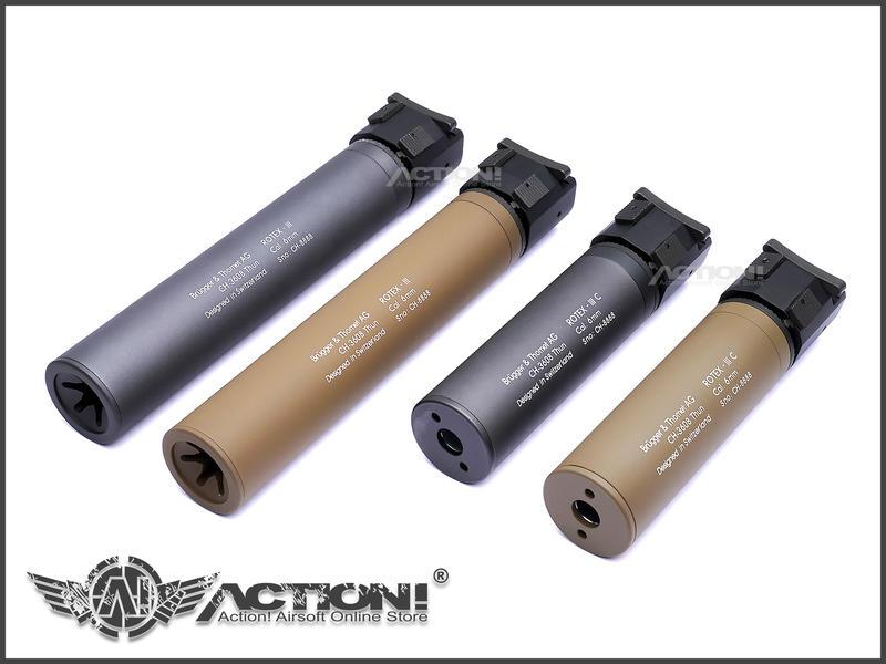 【ACTION!】ASG - B&T ROTEX-IIIA Compact樣式 QD快拆滅音管(灰色 短版)《現貨》