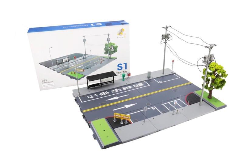 Tiny 微影 台灣房屋系列 道路系列 S1 S2 可搭配BD3 BD2 BD1 1/64小車場景擺設