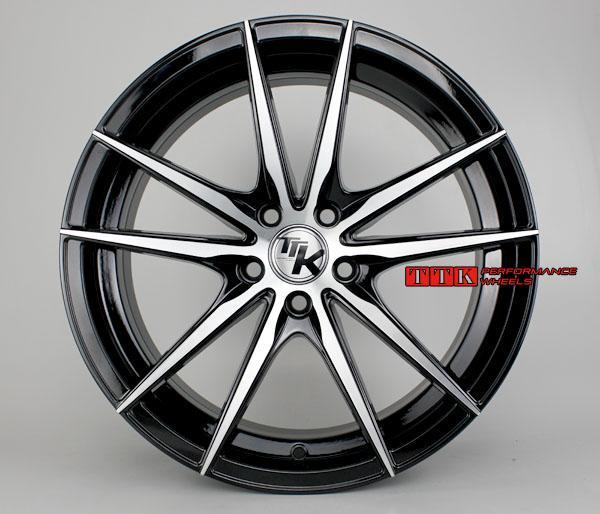 【台灣輪胎王】2015 最新款五爪分岔 輕量化 鋁圈樣式 17吋 7.5J ET40 全車系適用 黑車面