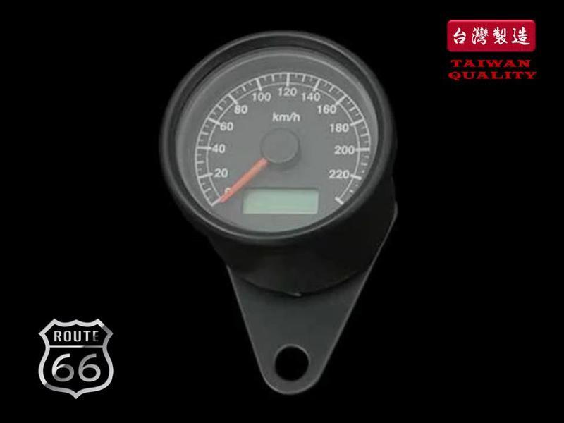 《美式工廠》電子式 LED 碼表 時速表 黑色黑面 野狼 英倫 SR 雲豹 愛將 KTR 哈雷 化油 凱旋 W650