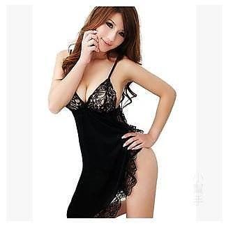 318百貨-歐美加大情趣內衣花邊吊帶睡裙