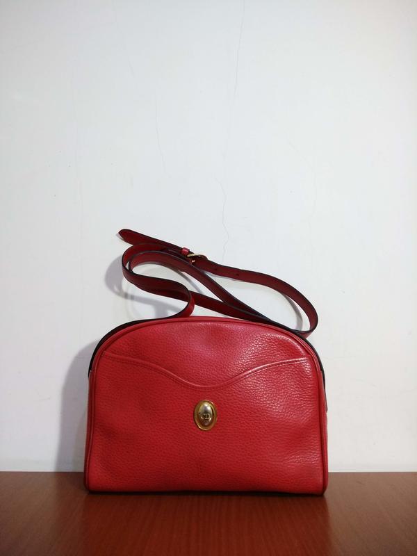 早期摩登時代 美好時光 vintage 法國製 Christian Dior 古著側背包 全真皮 CD 老包