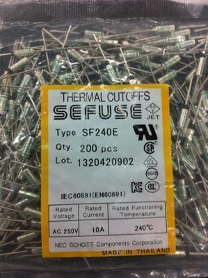 日本 NEC 富士 FUJI 各式電器 金屬 溫度保險絲 99°~240°C 15A [平信寄送=10元] 附:管夾