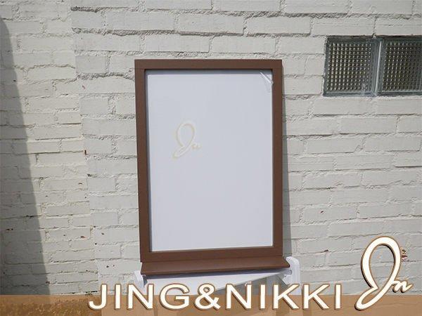 黑板/白板【跳台白板置物架】木框白板 客製白板 黑板菜單 白板立牌 直立黑板 客製化白板A字板 *JING&NIKKI