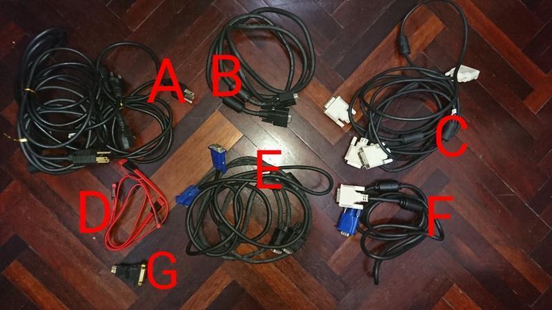 二手電腦線材 螢幕線 電源線 SATA訊號線 轉接頭