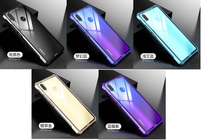 KINGCASE (現貨) 華為 nova3 / nova3i 金屬邊框 鋼化玻璃被蓋背殼 手機殼保護套