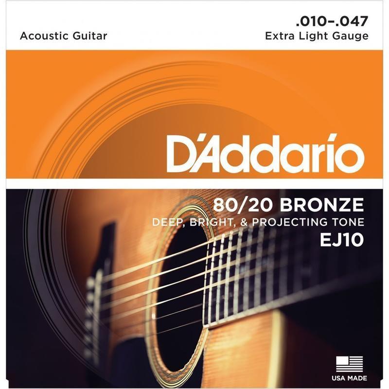 【鳳山名人樂器】DAddario EJ10 青銅民謠弦(10-47)