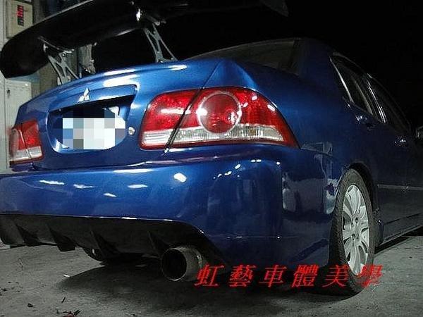 《虹藝車體美學》01-06 LANCER VIRAGE 改 EVO9 九代 無牌框後保桿