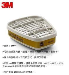 3M6006綜合濾毒罐 美國製 呼吸防護 防毒面具 濾罐《JUN EASY》