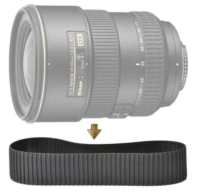 Focus Rubber Ring for NIkon 17-55mm F2.8G 對焦皮 對焦環