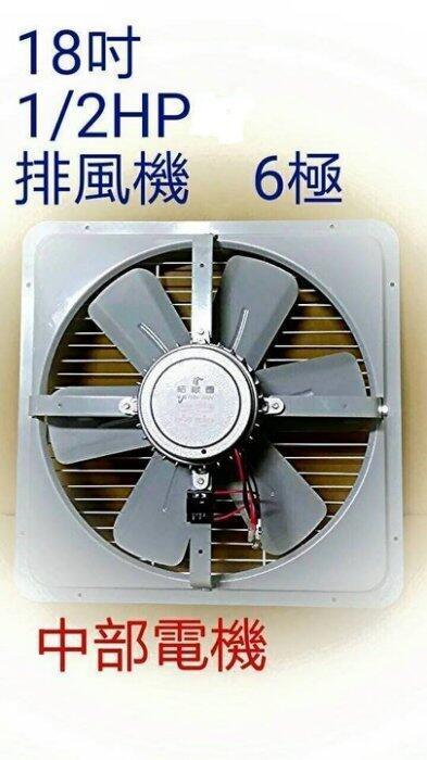 工業扇 吸排 通風機 工業排風扇 三相 220V 18吋 1/2HP 6極 工業用排風機 抽風機 電風扇