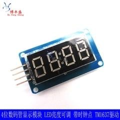 [含稅]4位元數碼管顯示模組 LED亮度可調 帶時鐘點 TM1637驅動 BF-S42