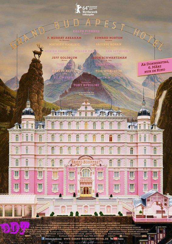 [ddt]防水海報《歡迎來到布達佩斯大飯店 》68×101公分