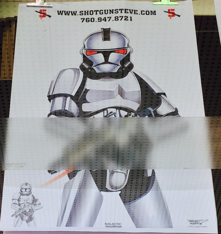 美國特殊圖案射擊靶紙(星際大戰複製人)