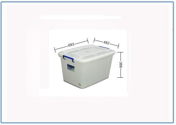 『 峻 呈 』(全台滿千免運 不含偏遠 可議價) 聯府 K801 滑輪整理箱 收納整理箱  收納箱 置物櫃 85L